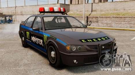 Policía Monster Energy para GTA 4 left