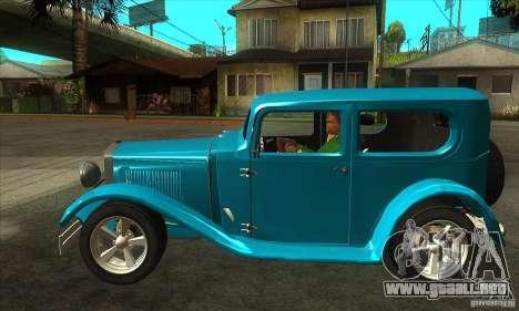 Ford A 1928 Hotrod para GTA San Andreas left