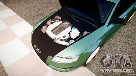 Audi RS6 2009 para GTA 4 vista hacia atrás