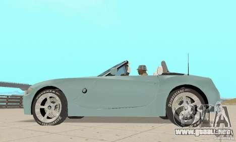 BMW Z4 Roadster 2006 para la visión correcta GTA San Andreas