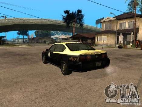 Chevrolet Impala Police 2003 para GTA San Andreas left