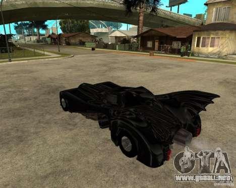 Batmobile para GTA San Andreas left