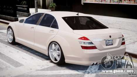 Mercedes-Benz S-Class BRABUS S Biturbo W221 2006 para GTA 4 vista lateral