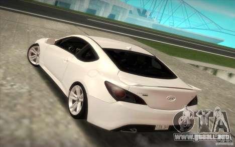 Hyundai Genesis 3.8 Coupe para GTA San Andreas left