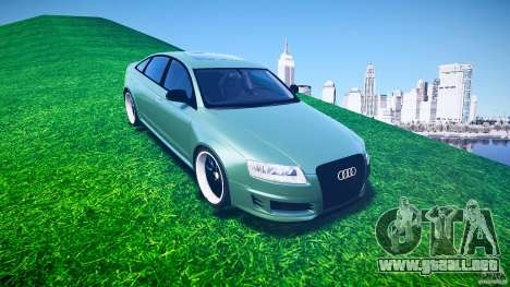 Audi RS6 2009 para GTA 4 vista lateral