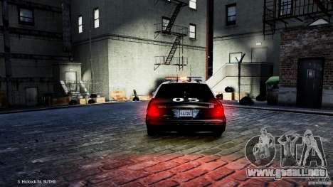 Ford Crown Victoria CVPI-K9 V6.9A-LAPD-ELS para GTA 4 vista hacia atrás