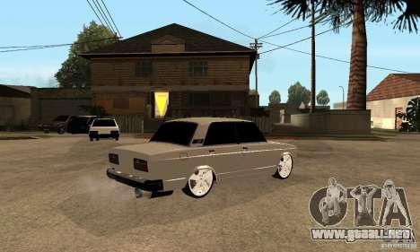 Lada VAZ 2107 LT para la visión correcta GTA San Andreas
