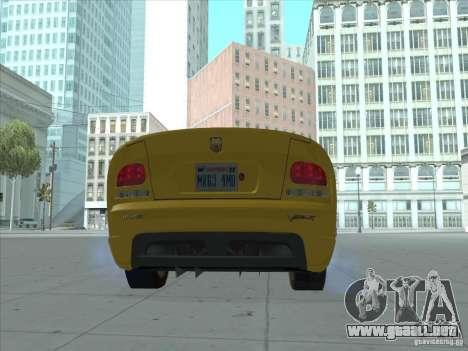 Dodge Viper SRT-10 (víbora de oro) para GTA San Andreas left