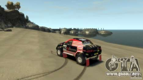 Mitsubishi L200 Rally para GTA 4 left