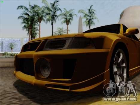 Mitsubishi Lancer Evolution VI para GTA San Andreas left