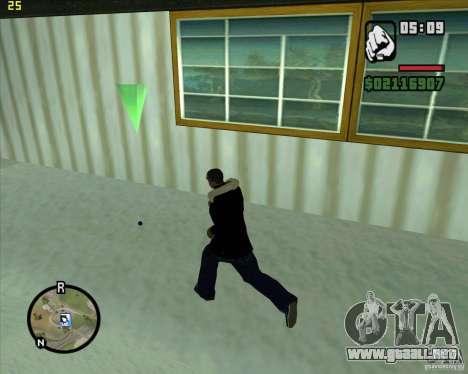 Lanzar una bola de nieve para GTA San Andreas