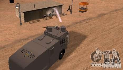 Un cañón de agua policía Rosenbauer v2 para GTA San Andreas vista hacia atrás