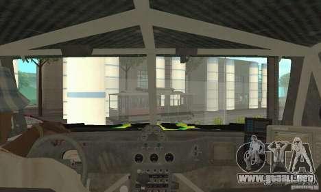 Hummer H3 Baja Rally Truck para GTA San Andreas vista hacia atrás