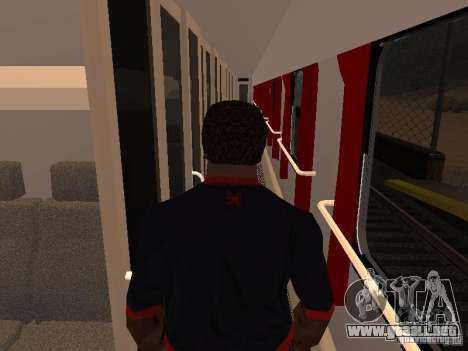 Nevsky express para GTA San Andreas vista hacia atrás