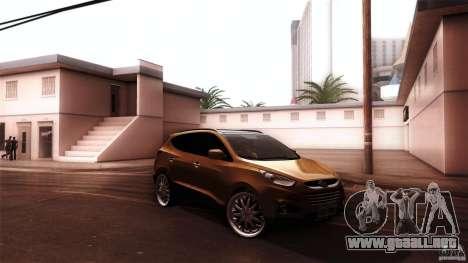 Hyundai iX35 Edit RC3D para GTA San Andreas vista posterior izquierda