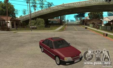 Opel Omega A para GTA San Andreas vista hacia atrás