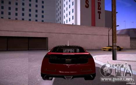 Chevrolet Volt para GTA San Andreas vista hacia atrás