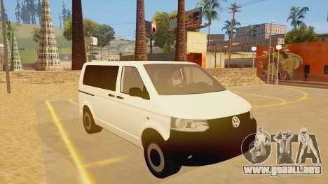 Volkswagen Transporter T5 Facelift 2011 para GTA San Andreas vista hacia atrás