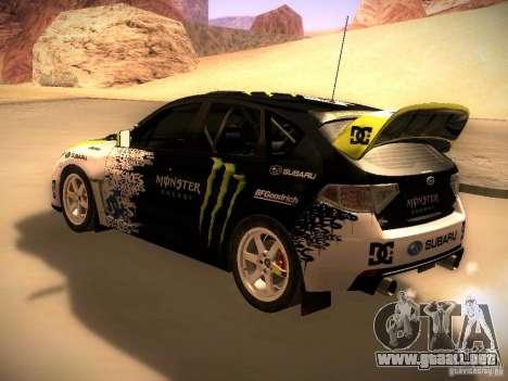 Subaru Impreza Gymkhana para la visión correcta GTA San Andreas