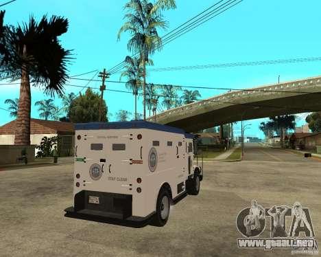 NSTOCKADE de GTA IV para GTA San Andreas vista posterior izquierda