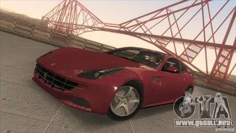 Ferrari FF 2011 V1.0 para visión interna GTA San Andreas