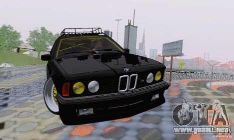 BMW M635CSi Stanced para vista inferior GTA San Andreas