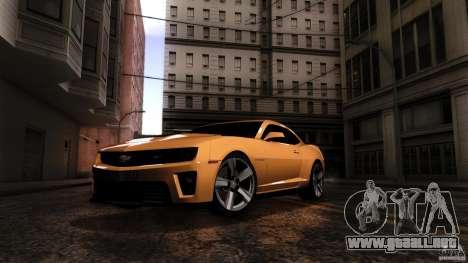 Chevrolet Camaro ZL1 2011 v1.0 para la visión correcta GTA San Andreas