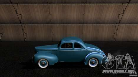 Ford Deluxe Coupe 1940 para GTA San Andreas left