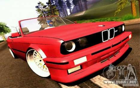BMW E30 M3 Cabrio para GTA San Andreas vista posterior izquierda