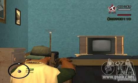 Uzi de COD4 MW para GTA San Andreas sucesivamente de pantalla