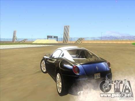Ferrari 599 GTB Fiorano para GTA San Andreas vista hacia atrás