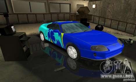 Toyota Supra Tuneable para GTA San Andreas vista hacia atrás