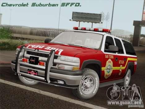 Chevrolet Suburban SFFD para GTA San Andreas