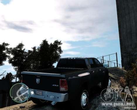 Dodge Ram 3500 Stock para GTA 4 Vista posterior izquierda