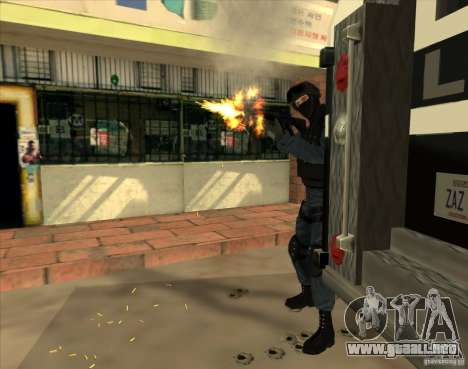 Los Angeles S.W.A.T. Skin para GTA San Andreas tercera pantalla