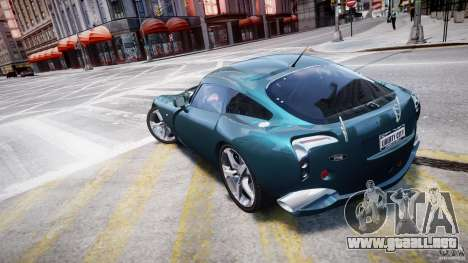 TVR Sagaris para GTA 4 Vista posterior izquierda