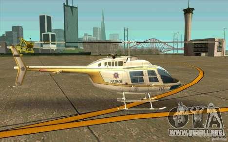 Bell 206 B Police texture4 para GTA San Andreas vista posterior izquierda