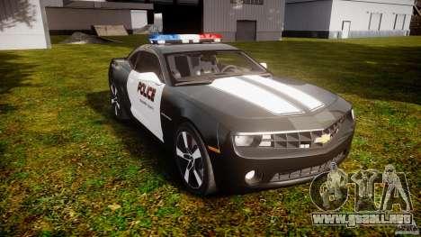 Chevrolet Camaro Police (Beta) para GTA 4 vista hacia atrás