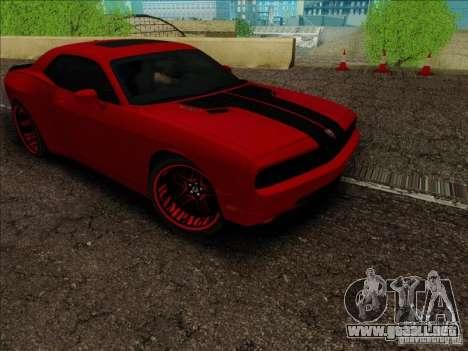 Dodge Quinton Rampage Jackson Challenger SRT8 v1 para GTA San Andreas vista hacia atrás