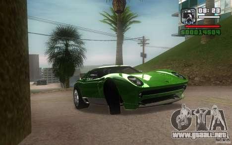 Lamborghini Miura Concept para GTA San Andreas vista posterior izquierda