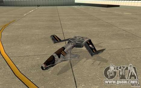 Hawk air Command and Conquer 3 para GTA San Andreas left