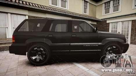 Cavalcade FBI car para GTA 4 vista interior