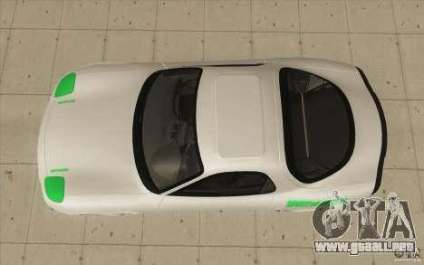 Mazda FD3S - Ebisu Style para la visión correcta GTA San Andreas