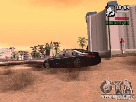 Hyundai Sonata Edit para GTA San Andreas vista posterior izquierda
