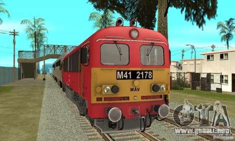 M41 Locomotora Diesel para GTA San Andreas vista posterior izquierda