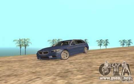BMW M5 F11 Touring para GTA San Andreas vista posterior izquierda