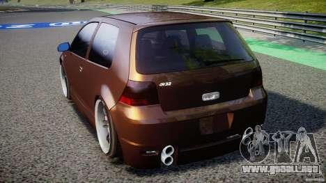 Volkswagen Golf IV R32 para GTA 4 Vista posterior izquierda