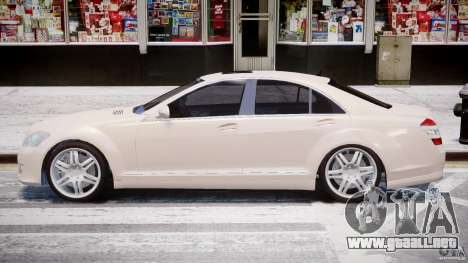 Mercedes-Benz S-Class BRABUS S Biturbo W221 2006 para GTA 4 vista interior