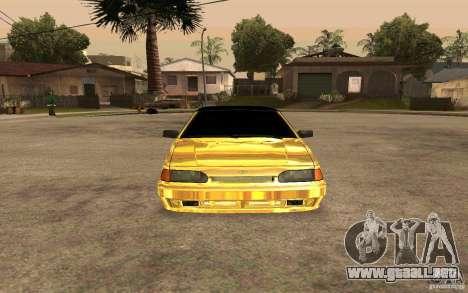 ВАЗ 2114 ORO para la visión correcta GTA San Andreas