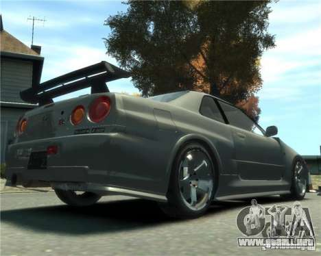 Nissan Skyline GT-R34 Nismo para GTA 4 left